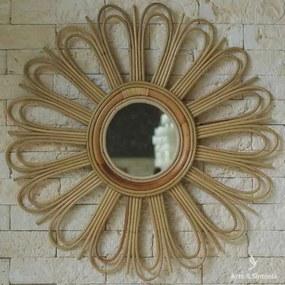 Espelho Sol em Rattan | Bali
