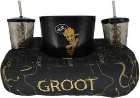 Kit Almofada Porta Pipoca Groot Guardiões da Galáxia Marvel