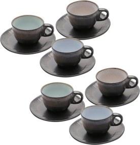 Jogo Xícaras Para Café De Cerâmica 6 Peças Rustic Marrom 90ml 35392 Bon Gourmet