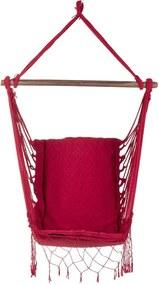 Rede Cadeira Suspensa Redes de Dormir Vermelha