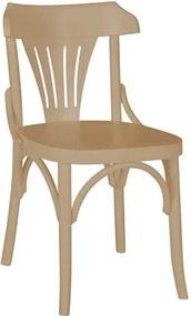 Cadeira Merione em Madeira Maciça - Bege