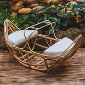 Cadeira de Balanço Infantil de Rattan