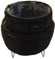 Vaso 24x23cm para Plantas com Suporte de Ferro Marrom ST50153 NDI
