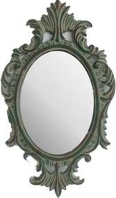 Espelho Decorativo com  Moldura Oval Envelhecida - 48x5x30cm