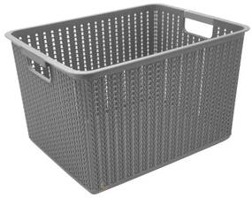 3 Unidades Cesto Organizador De Plástico Multiuso 19,5l