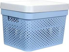 Caixa Organizadora G C/ Tampa - 17L - 35Cm X 26Cm X 21,5Cm - Container Blue