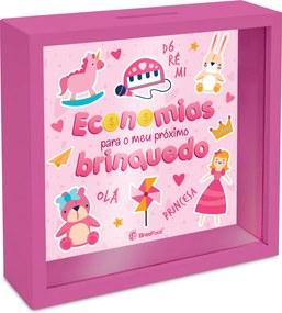 Quadro cofre  - kids - economia para meu brinquedo rosa