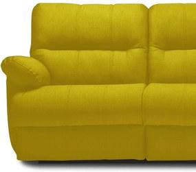 Sofá Ilha Bela Sleep Elétrico 246cm Suede Animale Amarelo