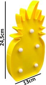 Luminária Abacaxi L3 Store de Mesa - Amarelo