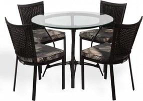 Conjunto Mesa e 4 Cadeiras Monaco - Área Externa