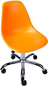 Cadeira de Escritório Eames Eiffel Giratória - Laranja