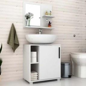 Conjunto Gabinete para Banheiro com Espelheira BBN 19 - BRV
