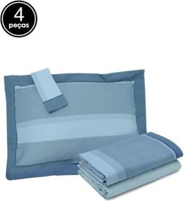 Jogo de Cama 4pçs Casal Artex Atual Colorado Azul