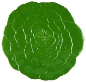 Jogo Prato Raso 6 Peças Porcelana Rosy Verde 27cm 27758 Wolff