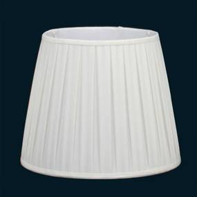 cúpula PLISSADA creme 35cm Bella HU021