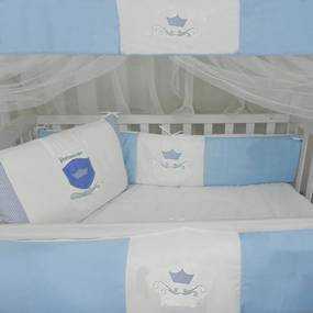 Kit Berço Príncipe Arthur Azul 10 Peças