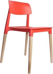 Cadeira Decorativa Sala e Cozinha (PP) Viper Vermelha- Gran Belo