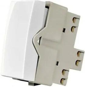 Módulo Interruptor Simples de 10A Linha Sleek Branco - Ref: 16062 - Margirius - Margirius