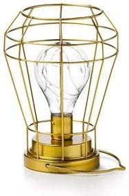 Luminária de Mesa Forma Geométrica - Dourado