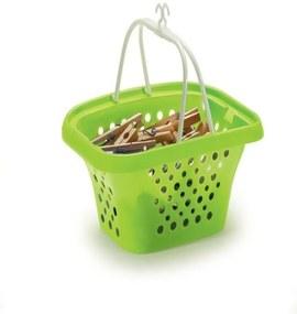 Cestinho P/Prendedor De Roupas Multiuso Lavanderia Plastico