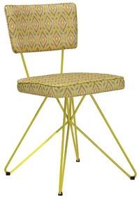 Cadeira Cozinha Maya Retrô Base Aramada - Wood Prime WF 19404