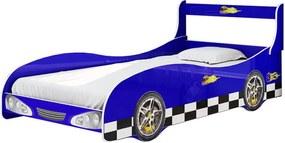 Cama De Solteiro Carro Rally Gelius Azul