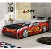 Cama Infantil Sport Car Vermelho Moveis Estrela