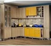 Cozinha Modulada Sicilia Argila Amarelo 10 Modulos Multimoveis