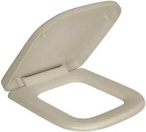 Assento Plástico Creme com Slow Close para o Modelo Quadra AP215 - Deca - Deca