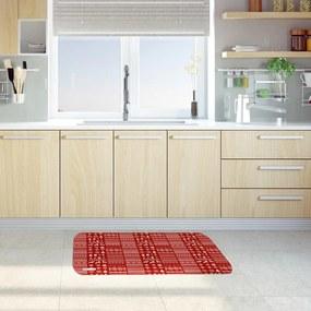 Tapete de Cozinha Mdecore Natal Vermelho40x60cm