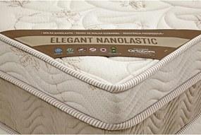 Colchão Elegant  Solteiro 88X188X27 Molas Nanolastic  Creme/Branco Ortobom