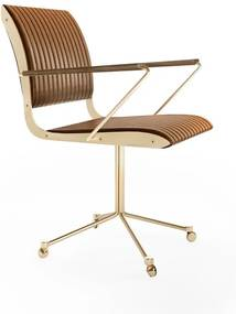 Cadeira com Braço Falx Office Estofada Rodízios Coleção Bari Tremarin Design by Fernando Sá Motta