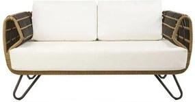 Sofa Saratoga 2 Lugares Estrutura Aluminio Revestido em Fibra cor Bege Madrid - 44659 Sun House