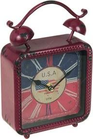 Relógio de Mesa Antigo USA em Ferro - 20x14 cm