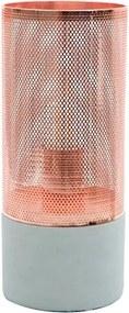 Luminária De Mesa Metal Cobre Telinha 28Cm X Ø12cm