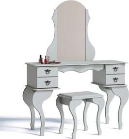 Penteadeira Com Espelho E Banqueta Charlotte Imcal Branco