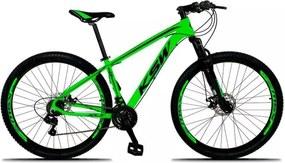 Bicicleta XLT Aro 29 Freio a Disco Suspensão 21 Marchas Quadro 19 Alumínio Verde Preto - KSW