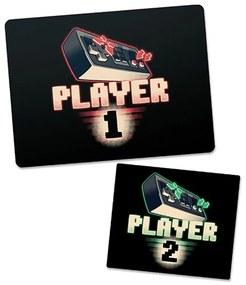Kit 2 Mousepad Gamer Player 1 e Mousepad Player 2