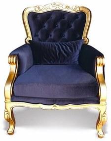 Poltrona Luxo Entalhada Madeira Maciça Design Clássico