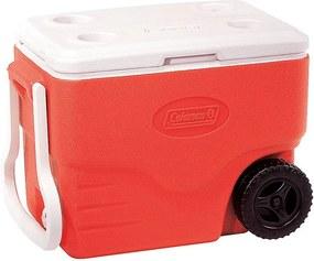 Caixa Térmica 40 QT Com Rodas Vermelho 38 Litros - Coleman