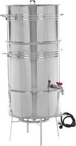 Suqueira Inox Panela Máquina P/ Fazer Suco, 30kgs, C/ Fogareiro