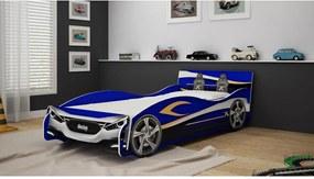 Cama Carro Speed 090 Azul Gelius Móveis