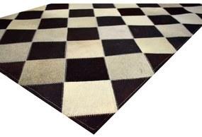 Tapete Diagonal Squares 1,20x1,50 Preto e Vintage - RE 45158