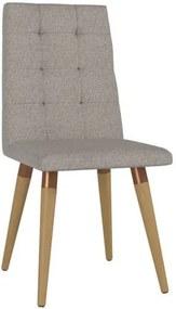 Cadeira de Jantar Goulart Linho Bege Médio Cobre - Wood Prime PTE 38201