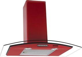 Coifa em Vidro Curvo Slim Vermelho de 75 cm - 127 Volts