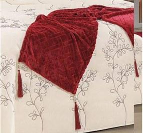 Xale Flannel com Almofadas Tecido Camurça 05 Peças - Rubi