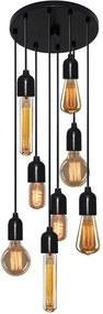 Luminária Lustre Retro Md-4162/8 Suporte Para Lâmpada / Não Inclusa - Bivolt