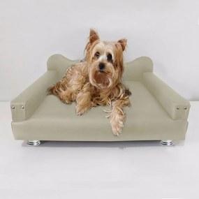 Cama Sofá Pet Meg Para Cães E Gatos Elegante e confortável Courino Bege