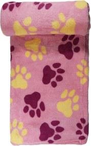 Manta Pet Panosul Microfibra Rosa