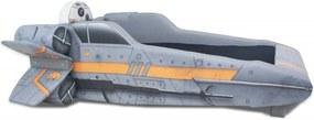 Cama Cama Carro Infantil Nave X - Wing Cinza